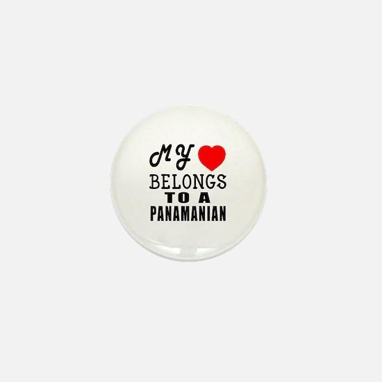 I Love Panamanian Mini Button