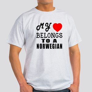 I Love Norwegian Light T-Shirt