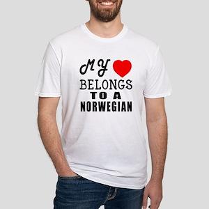 I Love Norwegian Fitted T-Shirt