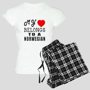 I Love Norwegian Women's Light Pajamas