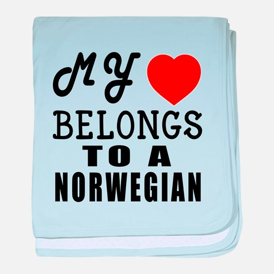 I Love Norwegian baby blanket