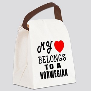 I Love Norwegian Canvas Lunch Bag