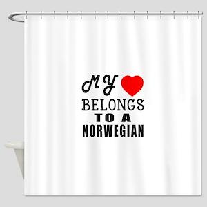 I Love Norwegian Shower Curtain