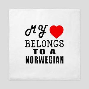 I Love Norwegian Queen Duvet