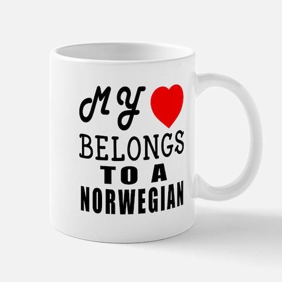 I Love Norwegian Mug