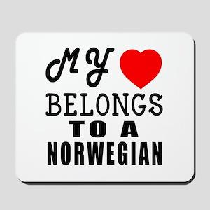 I Love Norwegian Mousepad