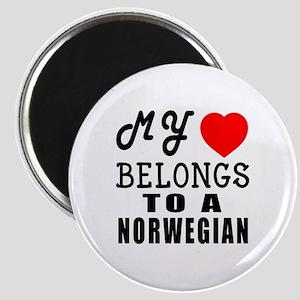 I Love Norwegian Magnet