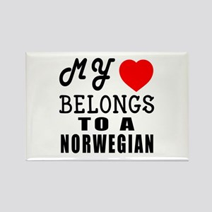 I Love Norwegian Rectangle Magnet