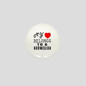 I Love Norwegian Mini Button