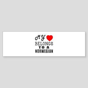 I Love Norwegian Sticker (Bumper)