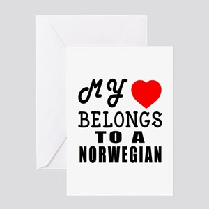 I Love Norwegian Greeting Card