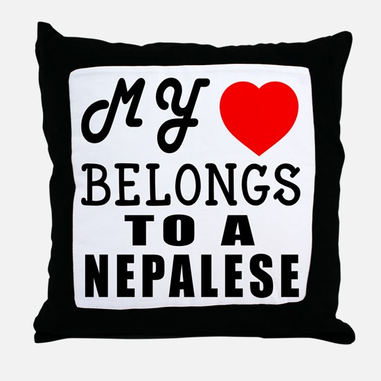 I Love Nigerian Throw Pillow