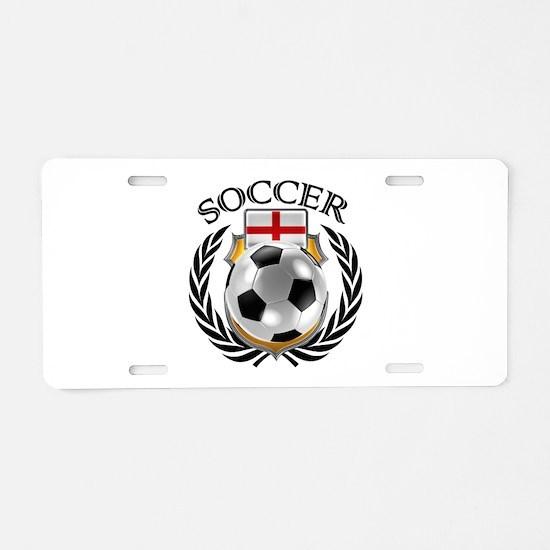 England Soccer Fan Aluminum License Plate