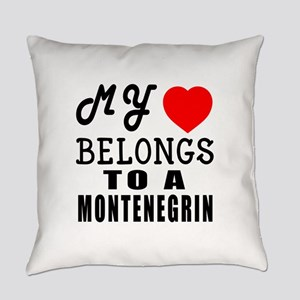 I Love Montenegrin Everyday Pillow