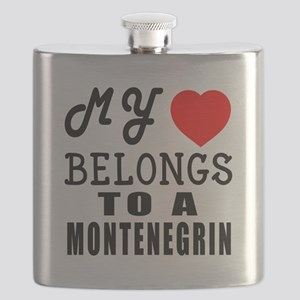 I Love Montenegrin Flask