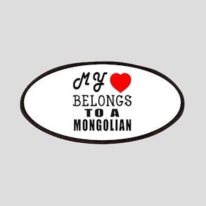 I Love Mongolian Patch