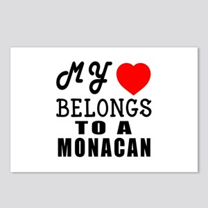 I Love Monacan Postcards (Package of 8)