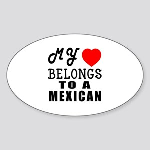 I Love Mexican Sticker (Oval)