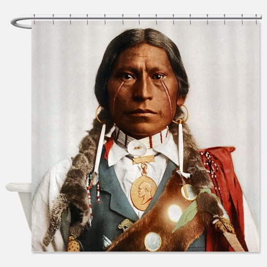 Cute Indian chief Shower Curtain