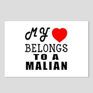 I Love Malian Postcards (Package of 8)