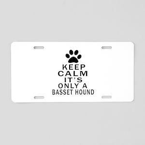 Basset Hound Keep Calm Desi Aluminum License Plate