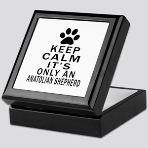 Anatolian Shepherd dog Keep Calm Desi Keepsake Box