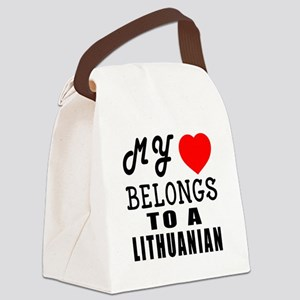 I Love Lithuanian Canvas Lunch Bag