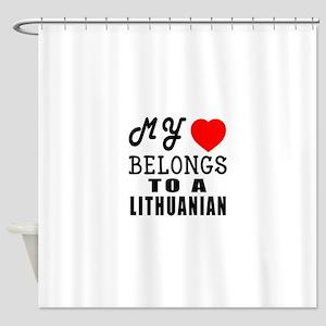 I Love Lithuanian Shower Curtain