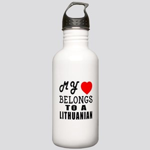 I Love Lithuanian Stainless Water Bottle 1.0L
