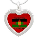 Washitaw By Blood Silver Heart Necklace Necklaces