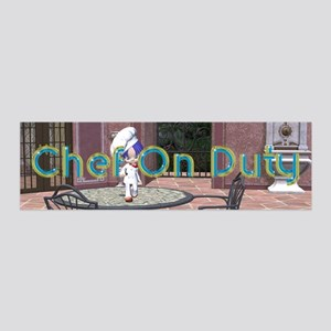 Chef On Duty 36x11 Wall Decal