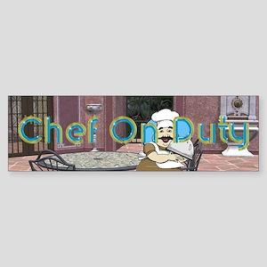 Chef on Duty Sticker (Bumper)