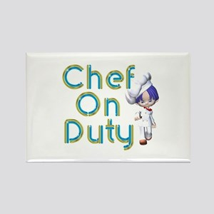 Chef On Duty Rectangle Magnet Magnets