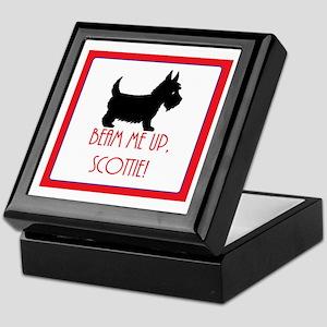DOG - Beam me up, Scottie - Scottish Keepsake Box