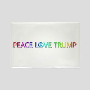 Peace Love Trump Rectangle Magnet