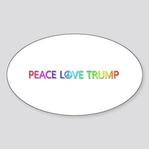 Peace Love Trump Oval Sticker