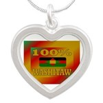 100% Washitaw Silver Heart Necklace Necklaces