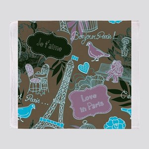 Love In Paris Throw Blanket