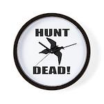 Hunt_dead_tan Wall Clock