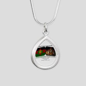 Royal Legacy Silver Teardrop Necklace