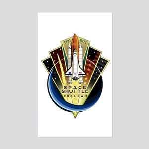 Shuttle Commemorative Sticker (rectangle)