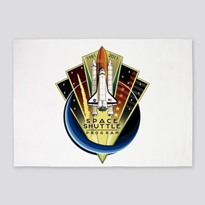 Shuttle Commemorative 5'x7'Area Rug