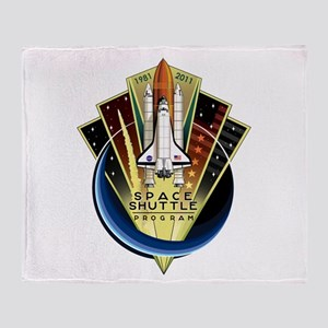 Shuttle Commemorative Throw Blanket