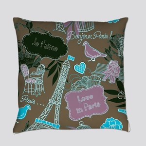 Love in Paris Everyday Pillow