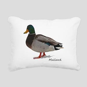 Mallard Duck Rectangular Canvas Pillow