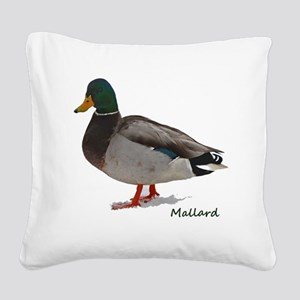 Mallard Duck Square Canvas Pillow