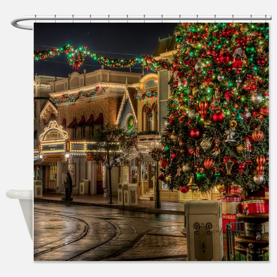 Christmas Street Shower Curtain