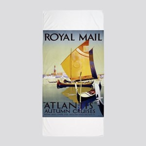 Vintage poster - Atlantis Beach Towel