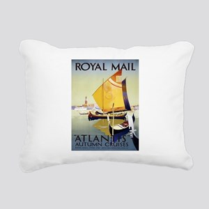 Vintage poster - Atlanti Rectangular Canvas Pillow