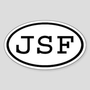 JSF Oval Oval Sticker